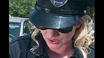 Pretty female cop fucking