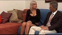 Hot babe with big tits seduces a mature man...