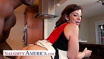 Naughty America Sara Jay enjoys her chocolate cream pie