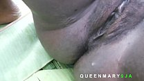 I used plantain leave to construct a mattress and she enjoyed my dick riding her tight pussy