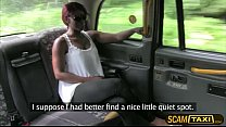 Ebony Jasmine gets her pounded by the driver in the backseat