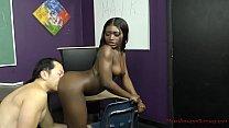 Sexy Black Student Blackmails Her Teacher - Noemie Bilas - Femdom