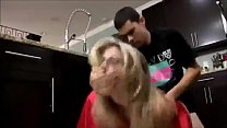 Young Son Fucks his Hot Mom in the Kitchen