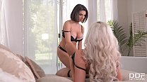 Busty vixens Savannah Stevens & Darcie Dolce fill their pinks with sex toys
