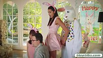Avi Love gets her hairy muff drilled by horny easter bunny