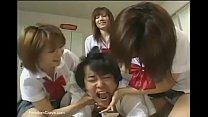Japanese high school girls abusing new student