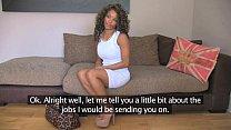FakeAgentUK Inexperienced ebony amateur gets duped into fake sex casting