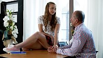 Tricky Old Teacher - Playful teen teases experienced teacher
