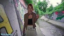 Public Agent Redhead Ariela Donovan fucked in a tunnel