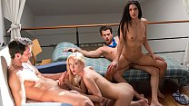 VIP SEX VAULT - Intense foursome with hotties Alexa Tomas and Sicilia