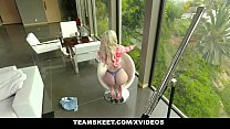 ExxxtraSmall - Petite Fat Ass Blonde Gets Her Tight Pussy Pounded