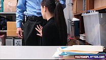 Teen shoplyfter Bobby Dylan is rewarded with cumshot for stealing