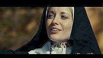 Horny lesbian nun rubbing