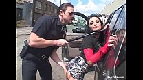 Brunette Ass Fucked By Horny Cop