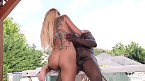 Incredible Blonde Euro Babe Aisha in her 1st Interracial Fuck