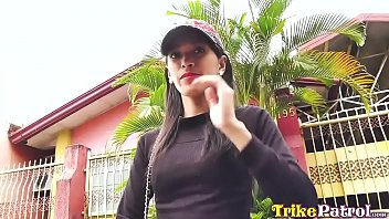 Flat-chested Asian spinner banged and facialed