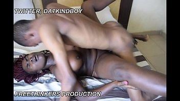 cute horny Africa nigeria Mrs with big boobs fuck Aremu the house maid.