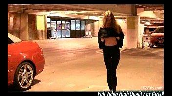 Bethany 2 flashing ass tits on camera redhead public
