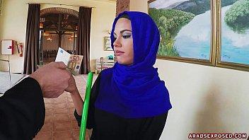 Arab Cleaning Lady Slowy Sucks Cock