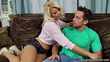 Naughty America Anikka Albrite fucking in the couch with her average body