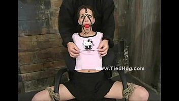 Ball mouth gag holds whore silent (Stop jerking off! Visit RealOne24.com)