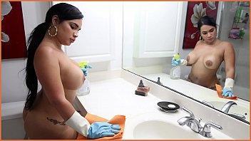 BANGBROS - Cuban Maid Destiny Gets Her Big Ass Fucked For Cash Money