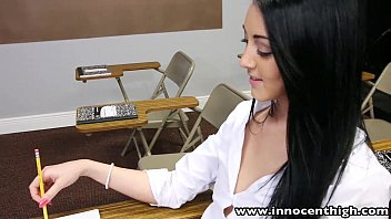 InnocentHigh College student Sabrina Banks ass licked and fucked in classroom