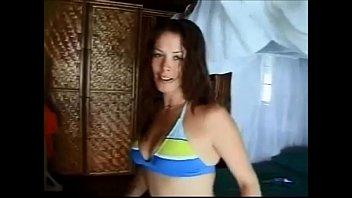 Hot brunette milf anal