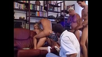 Amazing blonde anal banged by a group of maniacs