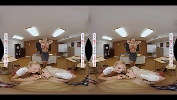 Naughty America - Summer School with 2 students and Naughty Professor