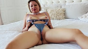 Barbaradream in satin underwear have buttplug in ass and fuck pussy with toy.
