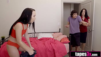 Horny Stepsis Is Grounded and Has No One But Stepbro To Fuck - Bambi Black, Ricky Spanish