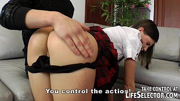 The bad schoolgirl gets spanking and anal