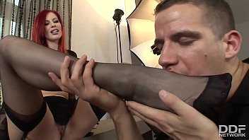 Surrender to Miss Marsha Lord & get your dick ready for some footjob action