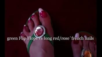 flipflops and long toenails