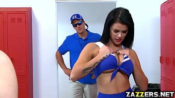 Peta Jensen sucks coach Ramons big cock