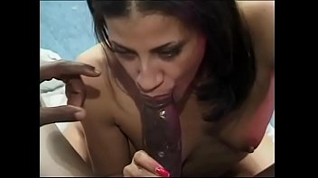 Petite flat-chested chick Obsession stretched by thick black cock on a couch