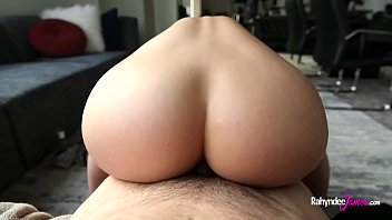 Anal sex with Rahyndee James perfect pawg booty and natural big tits fucking POV