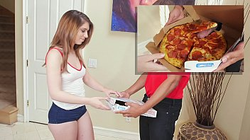 BANGBROS - Here's That Sausage Pizza You Ordered, Joseline Kelly. Bon Appetit!