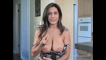 Fucking Raylene's huge tits with my tiny cock. Jerk Off Instructions