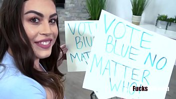 Teen Busty Sister Persuades Brother To Vote For Blue- Veronica Valentine