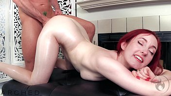 ARCHED: Flexible Redhead Penny Lay has oiled sex with Laz Fyre