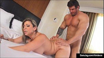 Curvy Cougar Sara Jay Blows & Bangs Her Big Cock Yoga Instructor!