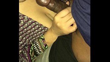 Spanish/Black mixed thot sucking good dick at the beach
