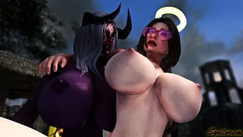 [Futa on Female] Succubus seduce a beautiful angel