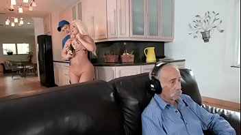julie cash is unfaithful to her husband in the kitchen