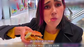 Risky Blowjob in Fitting Room for Big Mac - Public Agent PickUp & Fuck Student in Mall / Kiss Cat