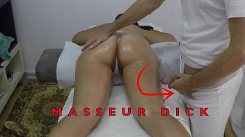 Indian Masseur Jerking off his Big Dick in front of her Arabian Milf Client with Hairy Pussy at Hidden Camera  Massage Room