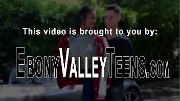 Preppy ebony teen banged