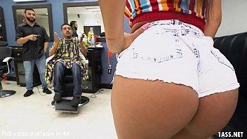 Booty Latina Wife Fucks The Barber - Rose Monroe